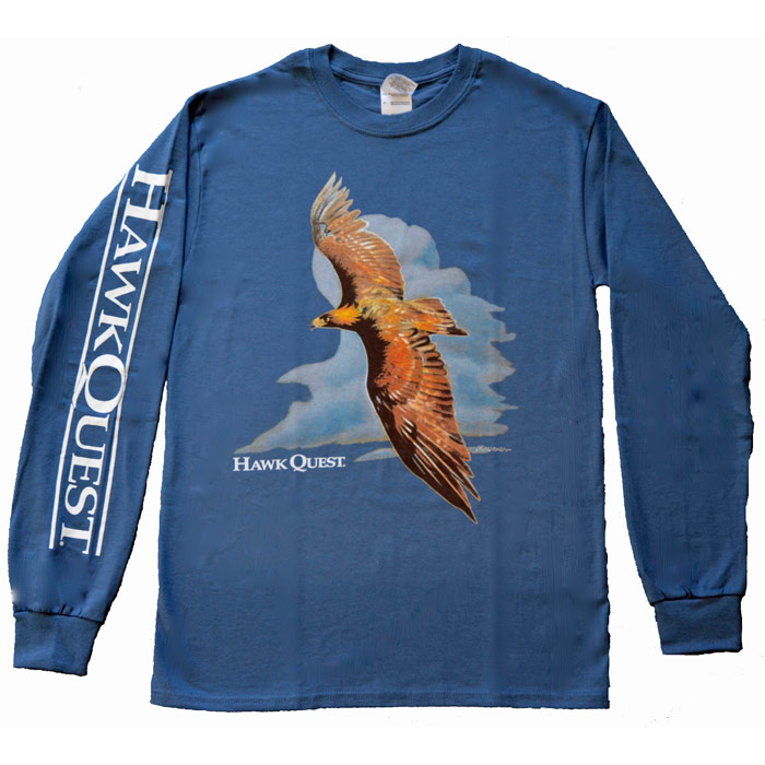 Flying Golden Eagle Long Sleeve T-Shirt