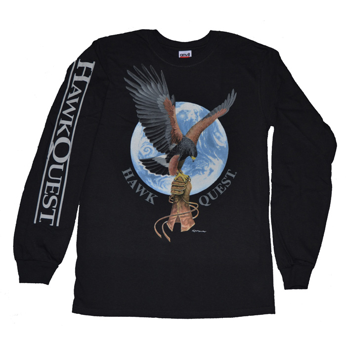 Harris Hawk/Earth Long Sleeve T-Shirt